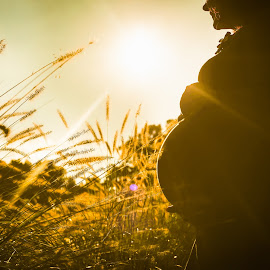 Expectation by Tea Jo - People Maternity ( natural light, maternity, nature, sunset, fall )