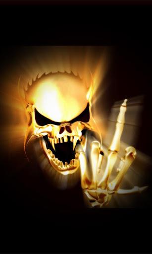 Finger Skull Live Wallpaper
