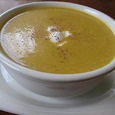 Sweet Acorn Squash And Apple Soup