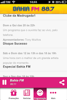Screenshot of Bahia FM
