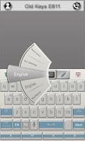 Screenshot of Old Keys E611 Keyboard Theme