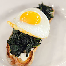 Egg, Kale, and Ricotta on Toast
