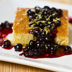 Classic Olive Oil Cake With Blueberry Marmellata