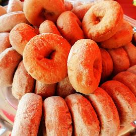 Plate of Donuts by Kathy Rose Willis - Food & Drink Plated Food ( sweets, breakfast, food, donuts, brown, eat, sugar )