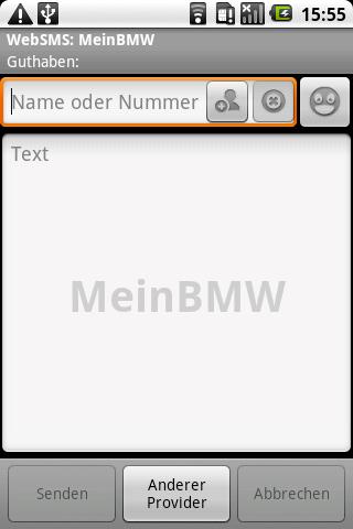WebSMS: MeinBMW Connector