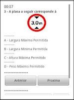 Screenshot of Simulado DETRAN FREE