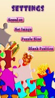 Screenshot of Fast Food Sliding Puzzle Game