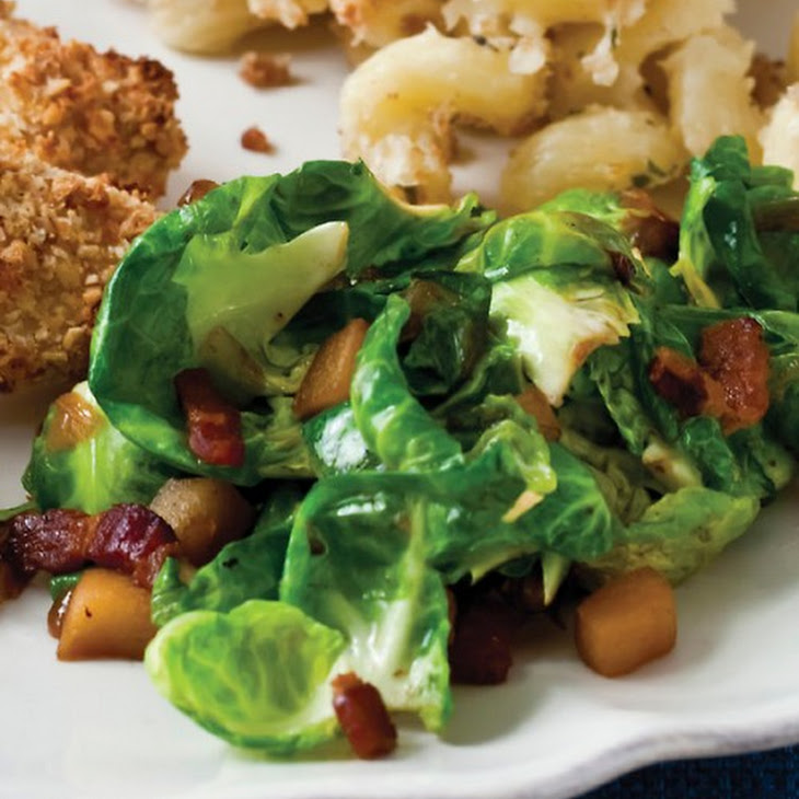 Sauteed Brussels Sprouts with Apples and Bacon Recipe | Yummly