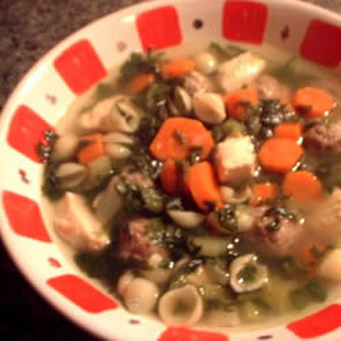 Italian Wedding Soup With Shredded Chicken And Meatballs Recept ...