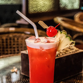 Singapore Sling by Vibeke Friis - Food & Drink Alcohol & Drinks ( coctails, red, singapore sling, raffles, bar )