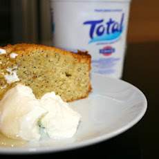semolina cake with TOTAL Greek Yoghurt and honey and citrus syrup