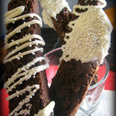 Chocoholic Mint Truffle Kissed Biscotti