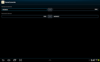 Screenshot of Roman Numeral Converter
