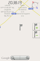 Screenshot of GPS speedometer DEMO