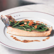 Trout with Haricots Verts and Almonds