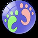 五十步 (高德地图版) LBS签到和微博 icon