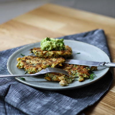 CHICKPEA, DILL AND YELLOW SQUASH FRITTERS
