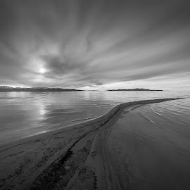 Dagger by Mike Hathenbruck - Landscapes Waterscapes ( great salt lake, nature, black and white, utah, salt lake city,  )