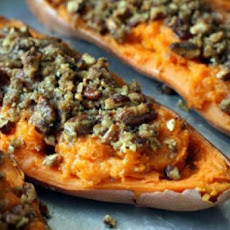 Sweet Potatoes with Pecans and Sausage