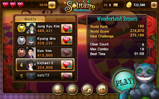 Screenshot of Solitaire Wonderland