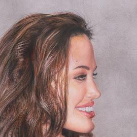 ANGELINA by Kile Zabala - Drawing All Drawing ( celebrity, angelina jolie, retrato, dibujo, drawing )