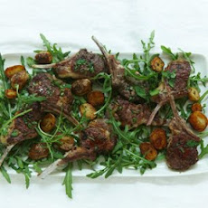 Lamb Cutlets with Mint, Chili and Golden Potatoes