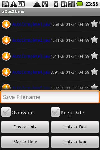aDos2Unix File Converter Lite