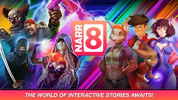 Screenshot of NARR8: comics, stories, novels