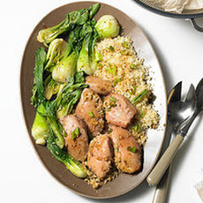 One-Pot Ginger Chicken, Bok Choy and Couscous