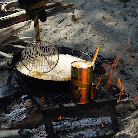 Fresh Walleye Shore Lunch by Gary Wahle - Food & Drink Cooking & Baking ( shore lunch, canada, camping, walleye, fishing, wood fire,  )