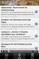 Screenshot of Vatikan - News, Radio, Bibel
