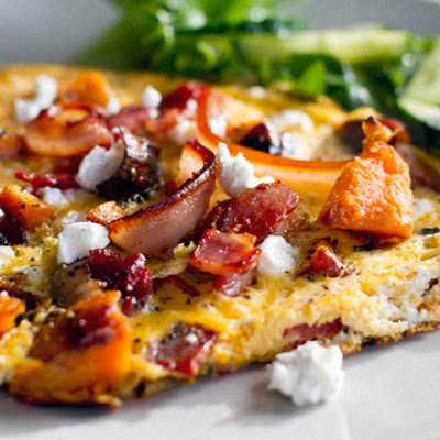 Sweet Potato & Bacon Omelette