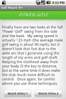 Screenshot of THE Golf App