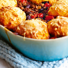 Mexican Minced Beef And Spicy Polenta Cobbler