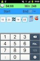 Screenshot of Calculator between hours, Free
