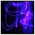 Neon purple glowstick icon