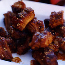 Molasses-Glazed Spareribs