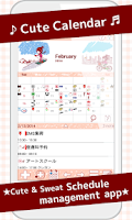Screenshot of Cute Calendar Free