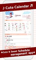 Screenshot of Cute Calendar Free