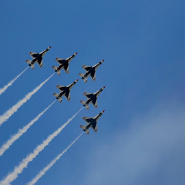 Thunderbirds by Daniel Waterbly - Transportation Airplanes ( f-16, jets, us airforce, military, thunderbirds )