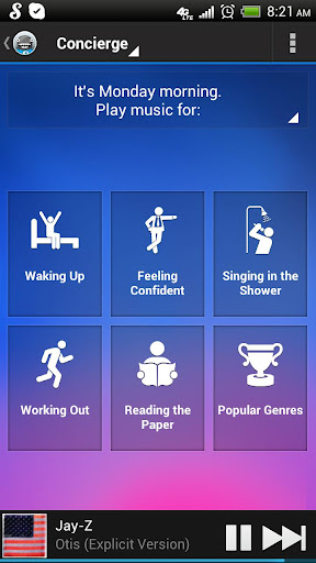 songza for android screenshot