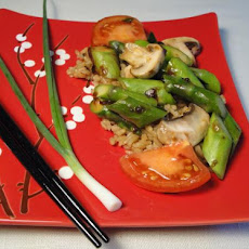Stir-Fried Asparagus and Tomatoes