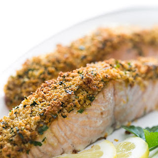 Panko-Crusted Baked Salmon