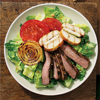 Beefy Steak Salad With Grilled Italian Cheese Croutons