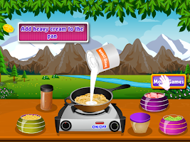 Screenshot of preparing pasta cooking games