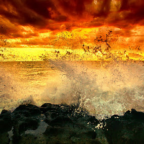 Golden Splash by Agoes Antara - Landscapes Waterscapes