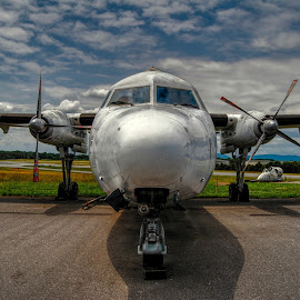Fokker F-27 by Edward Chandler - Transportation Airplanes