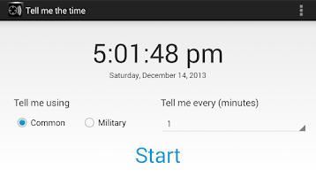 Screenshot of Tell Me The Time