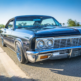 Mr Blue by Cali Original - Transportation Automobiles ( lowrider, car, 66, impala, chevrolet, socal, california, cars, art )
