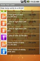 Screenshot of Know Your Limit: Alcohol Units